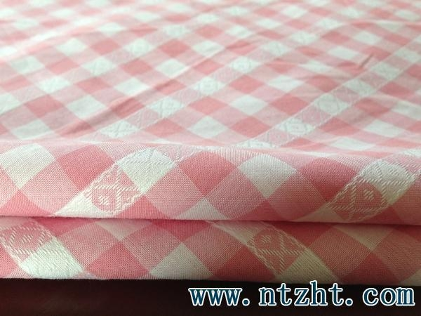 Quality 100 cotton yarn woven checked fabric 001 1370373994 for sale