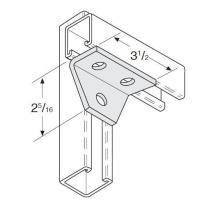 3 Hole Gussetted Shelf Angle Manufactures