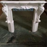 antique white fireproof Polyurethane(PU) Fireplace mantels fireplace frames Manufactures