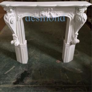 Quality antique white fireproof Polyurethane(PU) Fireplace mantels fireplace frames for sale
