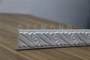 Quality Polyurethane Carving Chair Mouldings white carved Chair Rail Moulding for sale
