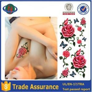 Quality 2016 fashion non-toxic rose temporary tattoo for sale