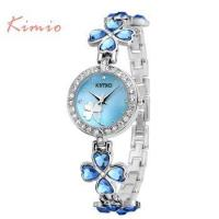 Buy cheap Brand KIMIO K456 smart lucky clover love crystal strap hand watch from wholesalers