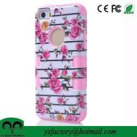 China shenzhen mobile phone accessory flower pink cheap bulk case for iphone 5 wholesale on sale