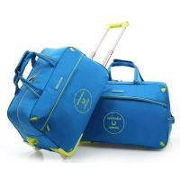 Waterproof Nylon Sports Travelling Luggage Duffle Trolley Wheeled Travel Bag Manufactures