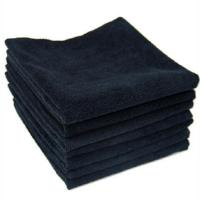 China Disposable Black Microfiber Towels for Hair Salons on sale