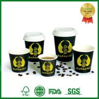 Quality Single Wall Disposable Espresso Cups Takeaway Coffee Cups Printing with Lid for sale