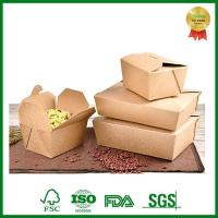 Quality FSC Custom Print Brown Kraft Paper Box for Food Packing Takeaway for sale