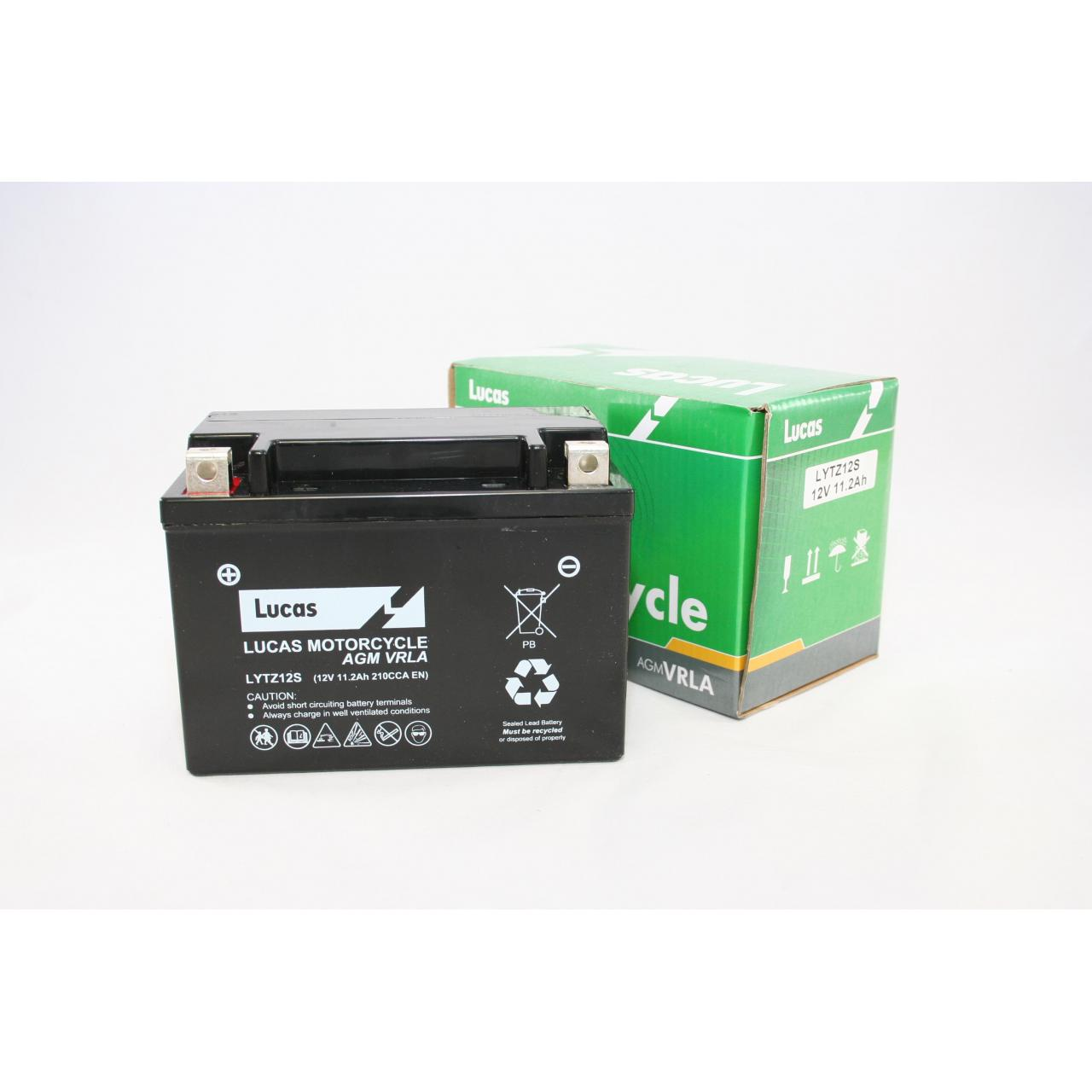 Lucas YTZ12S Sealed VRLA Motorcycle Battery Manufactures
