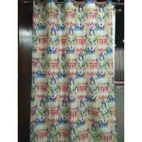 geometric figure printed polyester fabric curtain Manufactures