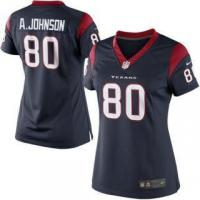 Buy cheap Nike Andre Johnson Houston Texans Women's Navy Blue Limited Jersey from wholesalers