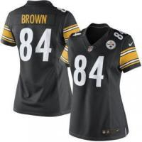 Buy cheap Nike Antonio Brown Pittsburgh Steelers Women's Black Limited Jersey from wholesalers