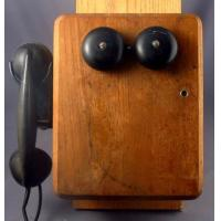 Small Wood Wall Phone - As is Manufactures