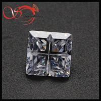 China wholesale cubic zirconia european machine cut square shape white cubic zirconia on sale