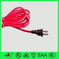China Hot red UL approval fabric ac power cord USA 3 pin white power plug ac power cord6 on sale