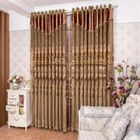 China Blackout Fabric Flower Pattern Polyester Luxury Curtain on sale
