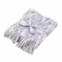 China Rainy Day Knitted Throw Blanket wholesale