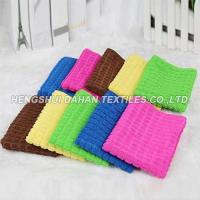 colorful checks microfiber cleaning towel MC04 Manufactures