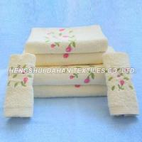 Buy cheap 100%cotton embroidery bath towel face towel hand towel CE from wholesalers