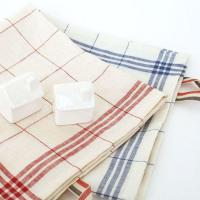 China Natural Soft Household Check Woven Lint Free Kitchen Towel with Quick Dry Function KL-009 on sale