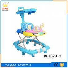 Quality Cheap children baby stroller triycle/baby walker tricycle with canopy sunshade for sale