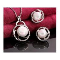 China JL-1PLS063 Attractive Artificial Pearl Traditional Indian Wedding Jewellery Sets on sale