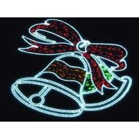Christmas outdoor decorations jingle bells led rope motif light Manufactures