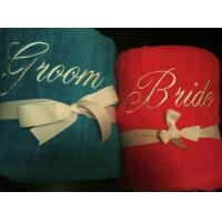 Buy cheap Blue and Pink Bride and Groom Beach Towel Set $59.99 $44.99 from wholesalers