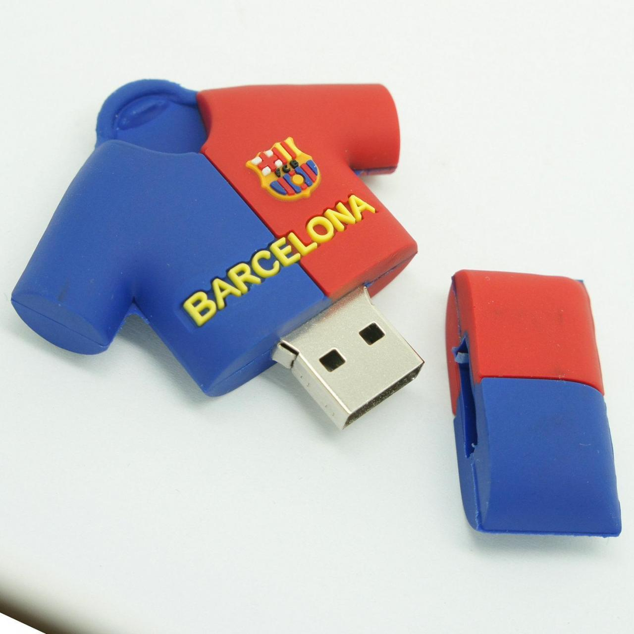 China 4GB 8GB 16GB promotional barcelona football clothes shape usb memory sticks on sale
