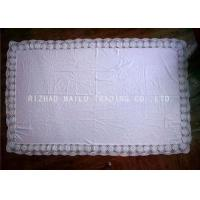 Rectangular Crochet Table Cover Floral Maginal , Handmade Crochet Lace Tablecloth Manufactures