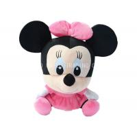 Sitting Mickey Mouse Animal Plush Toys Plush Stuffed With Pink Bows And Dress Manufactures