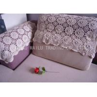 China Comfortable Handmade Crochet Sofa Cover Hand Wash With Embossed Flowers on sale