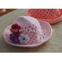 Flat Circular Top Crochet Winter Hat Embossed Style Crochet Toddler Hat Manufactures