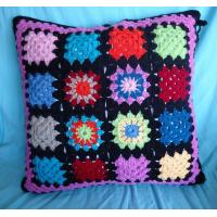 China Hand crochet cushion covers/seat cover/pouf on sale