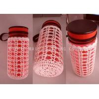 White Crochet Bottle Holder Hollow Out Scallop Edge Knitted Mug Warmer Manufactures