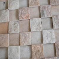 China 30*300Mm Pink Onyx and White Marble Penny Round Pattern Mosaic Tiles Manufactures
