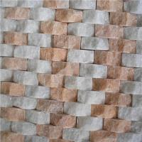 Building Wall Decoration Unique White Onyx Marble Tiles Mosaic Glass Mix Metal Marble Manufactures