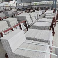 Light Grey and White Wooden Marble Kitchen Countertop Manufactures