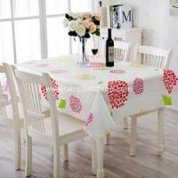 Household Items Plastic White Vinyl Table Cloth Manufactures