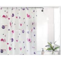 China Household Items Printing White Plastic Shower Curtain on sale