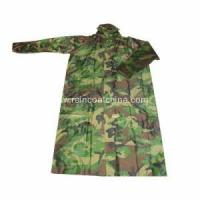 Buy cheap Plastic Long Military PVC Raincoats For Men from wholesalers