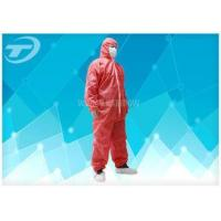China Waterresistance Elastic Cuffs Disposable Paint Coveralls PE Coated PP Fabric wholesale