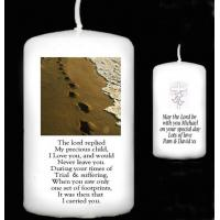 China page Personalised Gift Handmade Footprints Poem Candle Gift for Any Occasion on sale