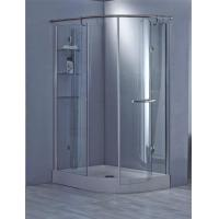 Luxury Offset Quadrant Support Bar Shower Box with Shelf Manufactures