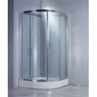 Buy cheap Sector Tempered Glass Sliding Shower Rooms from wholesalers