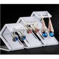 China Customized small perspex display stands white earring stand jewellry display stands EDJ-027 on sale