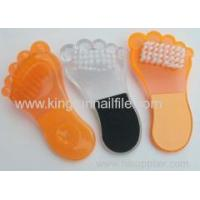 wholesale foot file pedicure supplier plastic foot file with brush Manufactures