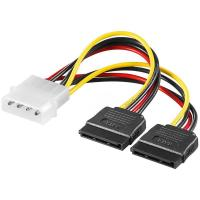 China 4 Pin Power Y Splitter to 2 X 15 Pin SATA Connectors on sale