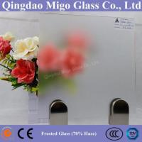 70% Frost Degree Extra Clear Acid Etched Frosted Glass Manufactures