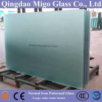 China 3.2mm Clear Mistlite Patterned Solar Glass Used In Solar Water Heaters on sale